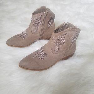 🖤SALE: price drop🖤 XOXO nude suede cowboy boots